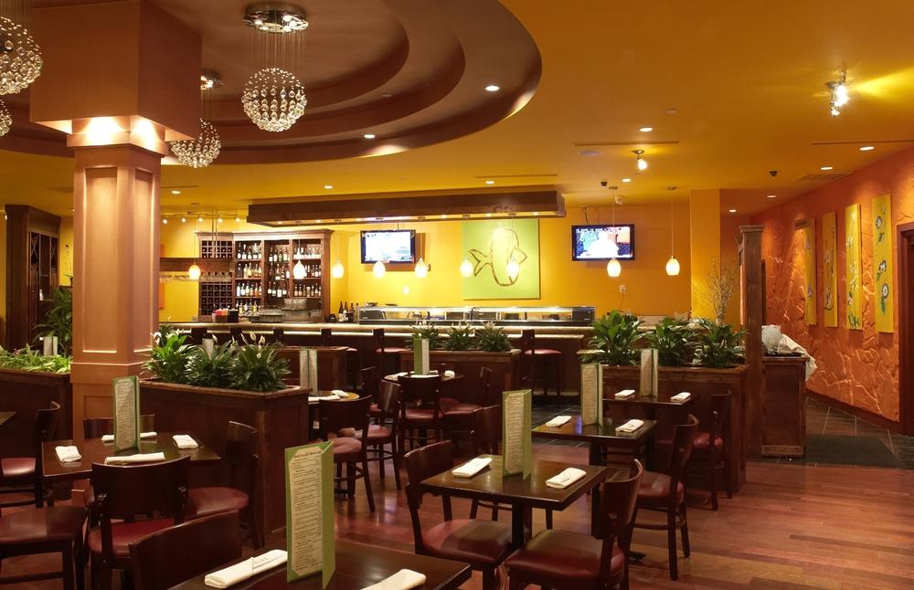 Интересный дизайн ресторана фото