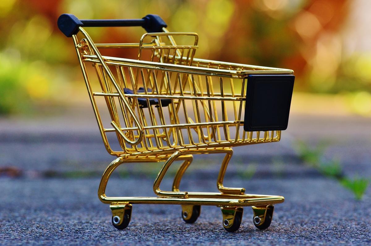 Тележка супермаркета фото