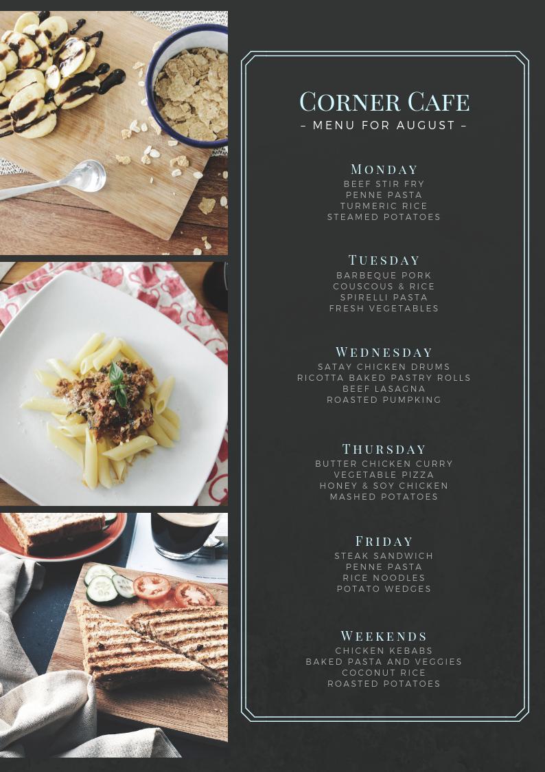 Создайте аппетитное меню — бесплатно
